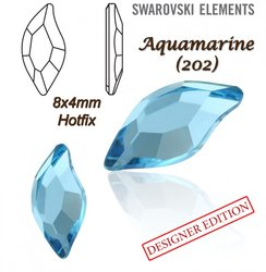 SWAROVSKI 2797 HOTFIX 8x4mm AQUAMARINE