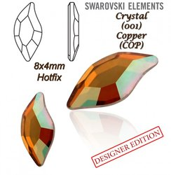 SWAROVSKI 2797 HOTFIX 8x4mm CRYSTAL COPPER