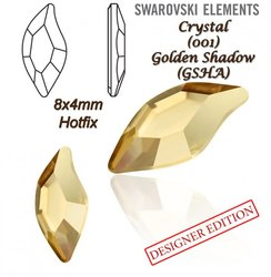 SWAROVSKI 2797 HOTFIX 8x4mm GOLDEN SHADOW
