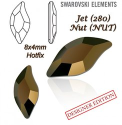 SWAROVSKI 2797 HOTFIX 8x4mm JET NUT