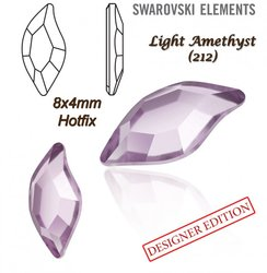 SWAROVSKI 2797 HOTFIX 8x4mm LIGHT AMETHYST