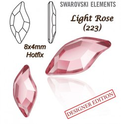 SWAROVSKI 2797 HOTFIX 8x4mm LIGHT ROSE