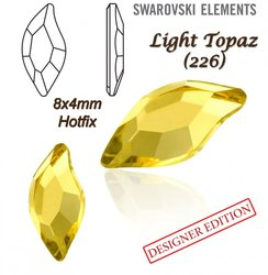 SWAROVSKI 2797 HOTFIX 8x4mm LIGHT TOPAZ