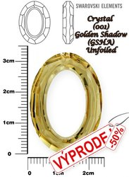 SWAROVSKI 4137 CRYSTAL GOLDEN SHADOW 33x24mm