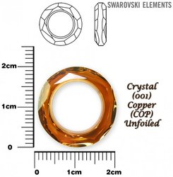 SWAROVSKI 4139 CRYSTAL COPPER  20mm