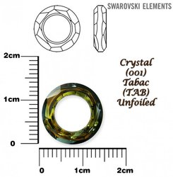 SWAROVSKI 4139 CRYSTAL TABAC 14mm