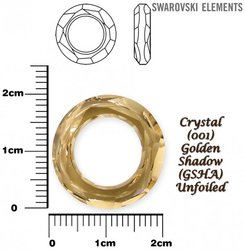 SWAROVSKI 4139 GOLDEN SHADOW 20mm