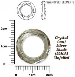 SWAROVSKI 4139 SILVER SHADE 20mm