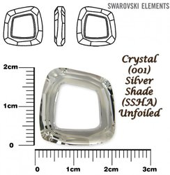 SWAROVSKI 4437 CRYSTAL SILVER SHADE 20mm