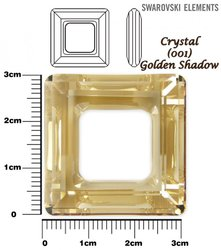 SWAROVSKI 4439 CRYSTAL GOLDEN SHADOW  30mm