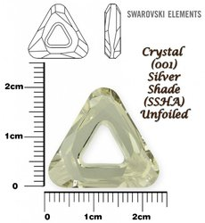 SWAROVSKI 4737  SILVER SHADE  20mm