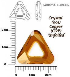 SWAROVSKI 4737 CRYSTAL COPPER  20mm