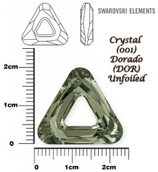 SWAROVSKI 4737 CRYSTAL DORADO  20mm
