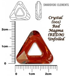 SWAROVSKI 4737 RED MAGMA  20mm