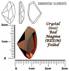 SWAROVSKI 4756 CRYSTAL RED MAGMA  19x11,5mm