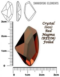 SWAROVSKI 4756 CRYSTAL RED MAGMA  27x16mm