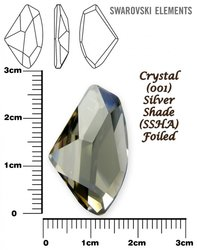 SWAROVSKI 4756 CRYSTAL SILVER SHADE  27x16mm