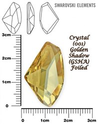 SWAROVSKI 4756 GOLDEN SHADOW  27x16mm