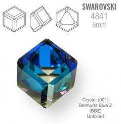 SWAROVSKI 4841 BERMUDA BLUE Z 6mm