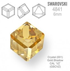 SWAROVSKI 4841 CRYSTAL GOLD-SHADOW CAL 6mm