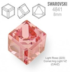 SWAROVSKI 4841 LIGHT ROSE  8mm