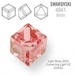 SWAROVSKI 4841 LIGHT ROSE 6mm