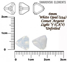 SWAROVSKI 4842 WHITE OPAL 6mm
