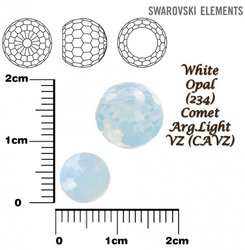 SWAROVSKI 4869 WHITE OPAL COMET ARG- LIGHT VZ  8mm