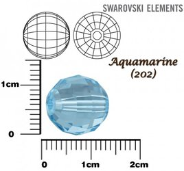 SWAROVSKI 5005 Chessboard Bead AQUAMARINE 12mm