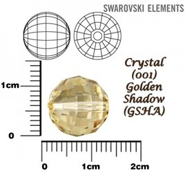 SWAROVSKI 5005 Chessboard Bead GOLDEN SHADOW 12mm