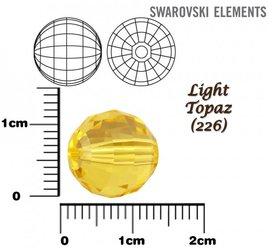 SWAROVSKI 5005 Chessboard Bead LIGHT TOPAZ 12mm