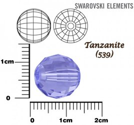 SWAROVSKI 5005 Chessboard Bead TANZANITE 12mm
