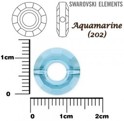 SWAROVSKI 5139 RING Bead AQUAMARINE 12mm