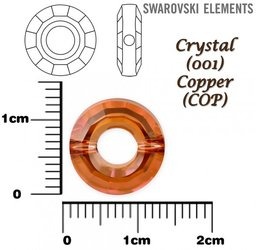 SWAROVSKI 5139 RING Bead CRYSTAL COPPER 12mm