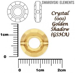SWAROVSKI 5139 RING Bead GOLDEN SHADOW 12mm
