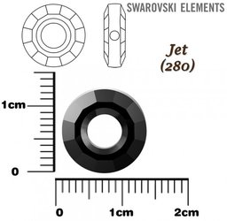 SWAROVSKI 5139 RING Bead JET 12mm
