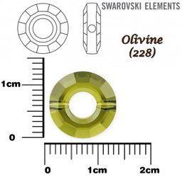 SWAROVSKI 5139 RING Bead OLIVINE 12mm