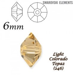 SWAROVSKI 5305 Roundel LIGHT COLORADO TOPAZ  6x3-5