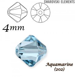 SWAROVSKI 5328 BEAD AQUAMARINE 4mm