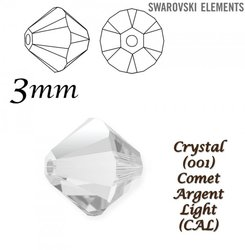 SWAROVSKI 5328 BEAD COMET ARGENT LIGHT 3mm