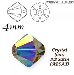 SWAROVSKI 5328 BEAD CRYSTAL AB SATIN 4mm