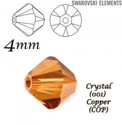 SWAROVSKI 5328 BEAD CRYSTAL COPPER  4mm