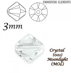SWAROVSKI 5328 BEAD CRYSTAL MOONLIGHT 3mm