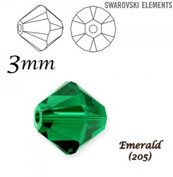 SWAROVSKI 5328 BEAD EMERALD 3mm