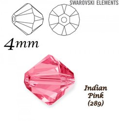 SWAROVSKI 5328 BEAD INDIAN PINK  4mm