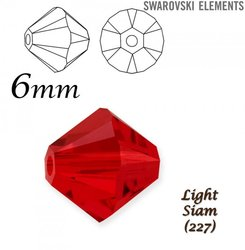SWAROVSKI 5328 BEAD LIGHT SIAM  6mm