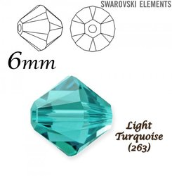 SWAROVSKI 5328 BEAD LIGHT TURQUOISE 6mm