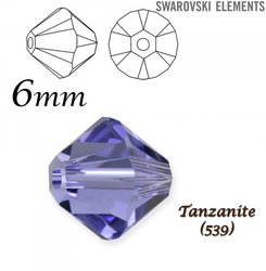 SWAROVSKI 5328 BEAD TANZANITE  6mm
