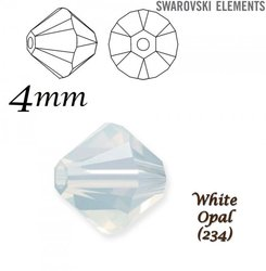 SWAROVSKI 5328 BEAD WHITE OPAL  4mm