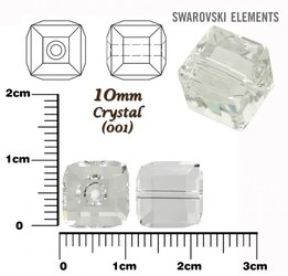 SWAROVSKI 5601 CUBE Bead CRYSTAL 10mm